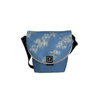 Modelo blanco azul bolsas de mensajeria
