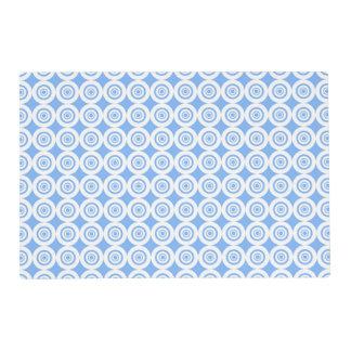 Modelo blanco azul claro moderno de los círculos tapete individual