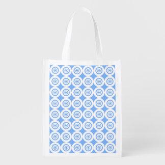 Modelo blanco azul claro moderno de los círculos bolsa para la compra