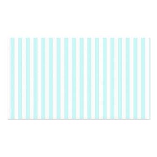 Modelo blanco azul de las rayas del trullo femenin tarjetas de visita