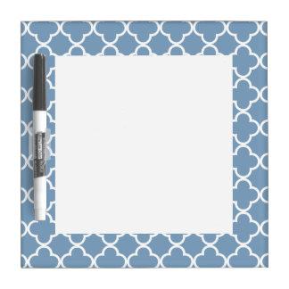 Modelo blanco azul del marroquí de Quatrefoil de Pizarras Blancas
