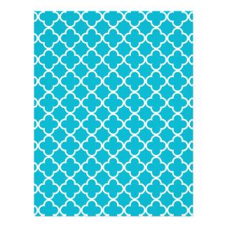 Modelo blanco azul del marroquí de Quatrefoil del Flyer A Todo Color