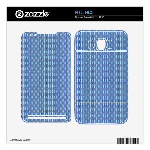 modelo blanco azul lindo simple skin para el HTC HD2