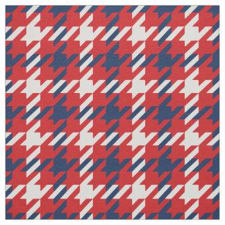 Modelo blanco azul rojo retro de la tela escocesa telas
