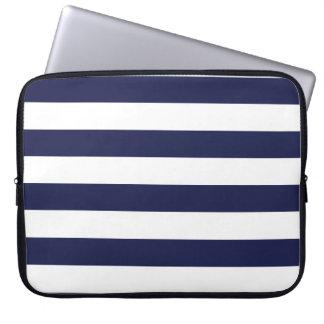 Modelo blanco azul veneciano exclusivo de la raya funda computadora