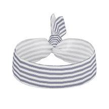 Modelo blanco azul veneciano exclusivo de la raya goma de pelo