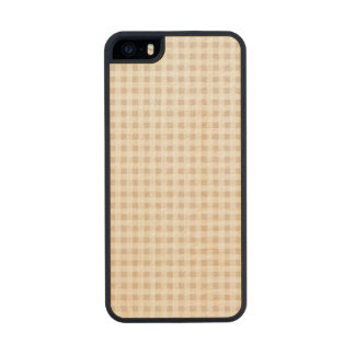 Modelo blanco beige de la guinga funda de madera para iPhone 5