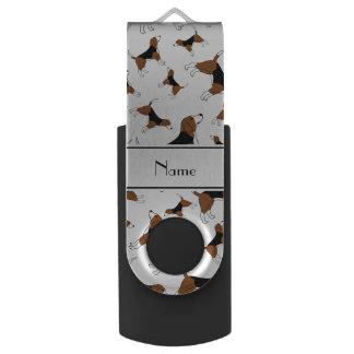 Modelo blanco conocido personalizado del perro del memoria USB