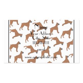 Modelo blanco conocido personalizado del perro del tarjetas de visita
