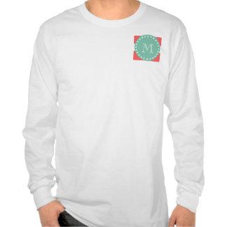 Modelo blanco coralino de las rayas monograma de