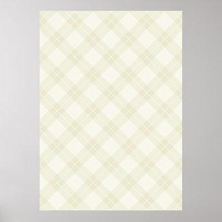 Modelo blanco de Argyle Poster