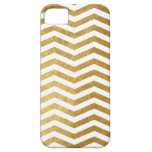 Modelo blanco de Chevron del oro iPhone 5 Case-Mate Carcasas