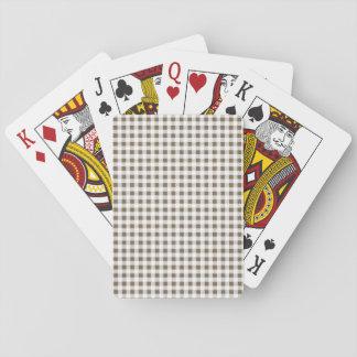 Modelo blanco de color topo de la guinga barajas de cartas