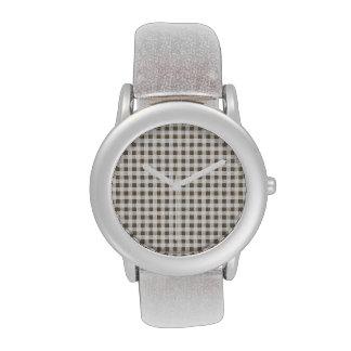 Modelo blanco de color topo de la guinga reloj de mano