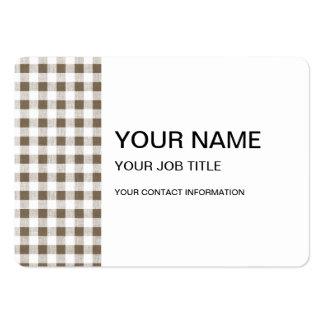 Modelo blanco de color topo de la guinga tarjeta de negocio