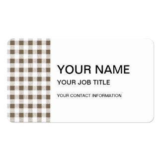 Modelo blanco de color topo de la guinga tarjetas de visita