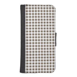 Modelo blanco de la guinga de Brown Billetera Para iPhone 5