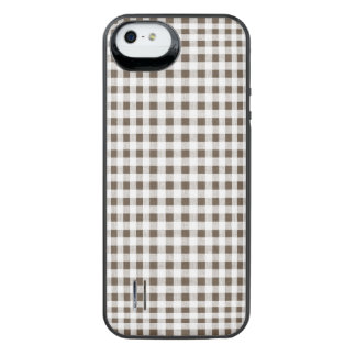 Modelo blanco de la guinga de Brown Funda Power Gallery™ Para iPhone 5 De Uncommon