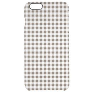 Modelo blanco de la guinga de Brown Funda Clearly™ Deflector Para iPhone 6 Plus De Unc