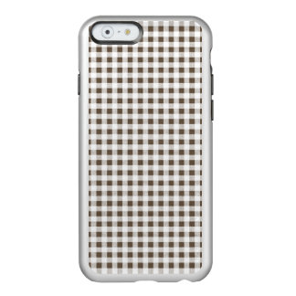Modelo blanco de la guinga de Brown Funda Para iPhone 6 Plus Incipio Feather Shine