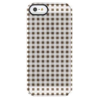 Modelo blanco de la guinga de Brown Funda Clearly™ Deflector Para iPhone 5 De Uncommon