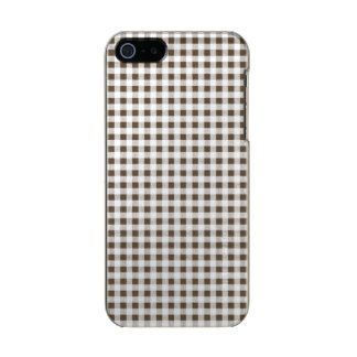 Modelo blanco de la guinga de Brown Funda Para iPhone 5 Incipio Feather Shine