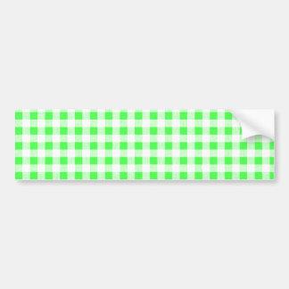 Modelo blanco de la guinga de la verde lima etiqueta de parachoque