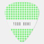 Modelo blanco de la guinga de la verde lima púa de guitarra