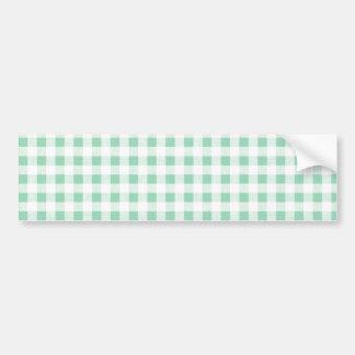 Modelo blanco de la guinga de la verde menta etiqueta de parachoque