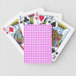 Modelo blanco de la guinga de las rosas fuertes baraja cartas de poker