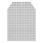 Modelo blanco de la guinga del carbón de leña invitación 12,7 x 17,8 cm