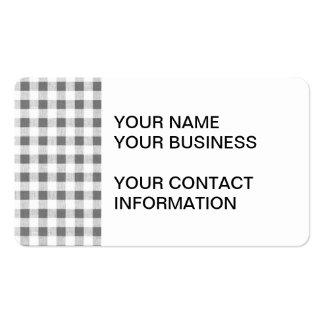 Modelo blanco de la guinga del carbón de leña tarjetas de visita