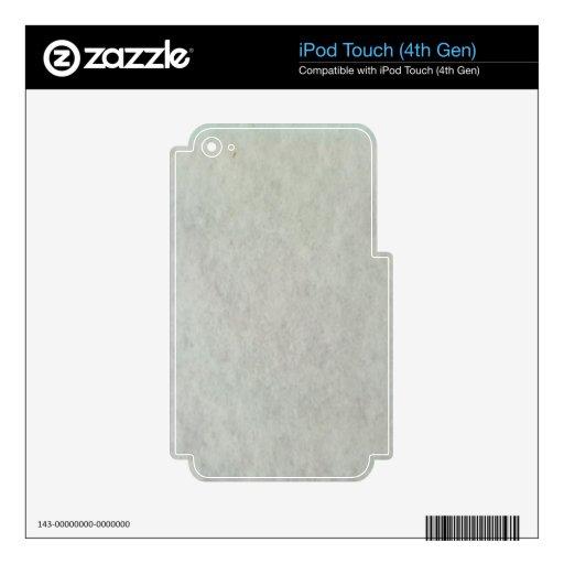 Modelo blanco de la nieve iPod touch 4G skin