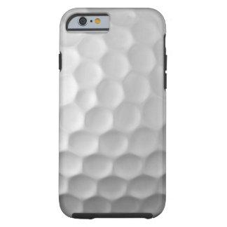 Modelo blanco de la pelota de golf del caso del