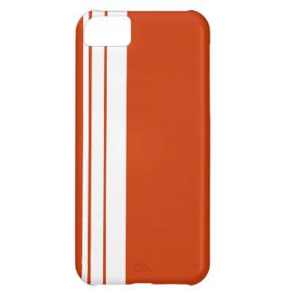 Modelo blanco de la raya funda para iPhone 5C