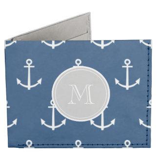 Modelo blanco de las anclas de los azules marinos, billeteras tyvek®