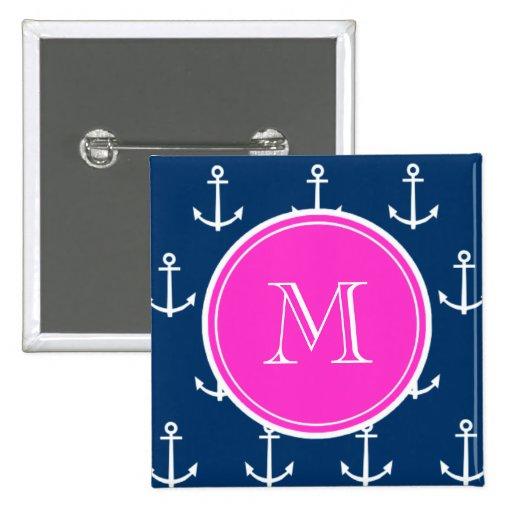 Modelo blanco de las anclas de los azules marinos, pins