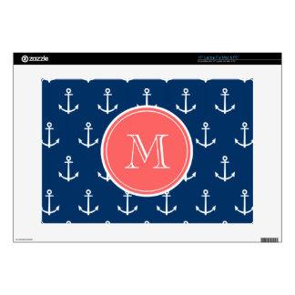 Modelo blanco de las anclas de los azules marinos, portátil skins