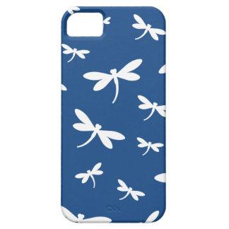 Modelo blanco de las libélulas - BG adaptable iPhone 5 Carcasas