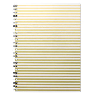 Modelo blanco de las rayas de la hoja de oro libreta