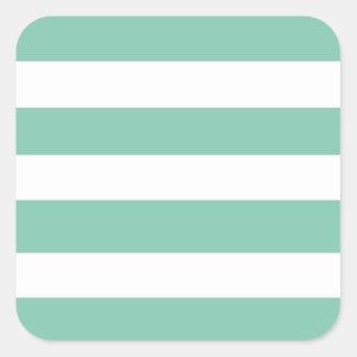 Modelo blanco de las rayas de la verde menta