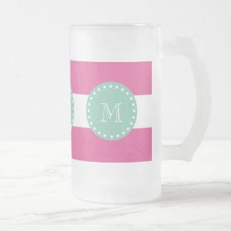 Modelo blanco de las rayas de las rosas fuertes, v taza de café
