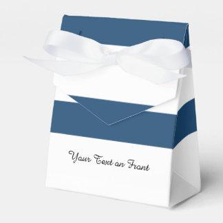 Modelo blanco de las rayas de los azules marinos caja para regalo de boda