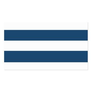 Modelo blanco de las rayas de los azules marinos m plantillas de tarjetas personales