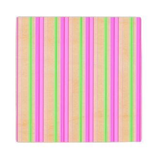 Modelo blanco de las rayas del trullo rosado de posavasos de arce