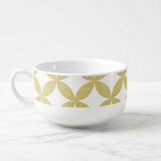 Modelo blanco del círculo del diamante de la hoja bol para sopa