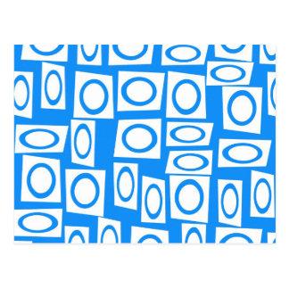 Modelo blanco del cuadrado del círculo de la tarjeta postal