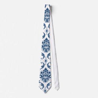 Modelo blanco del damasco del vintage de los corbatas