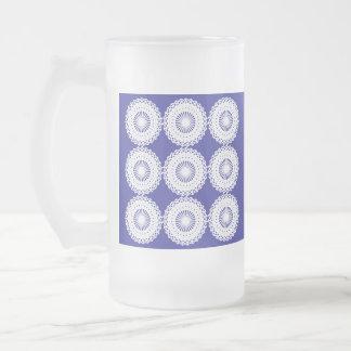 Modelo blanco del diseño del cordón jarra de cerveza esmerilada