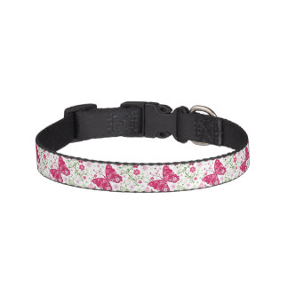 Modelo blanco floral collares para perros